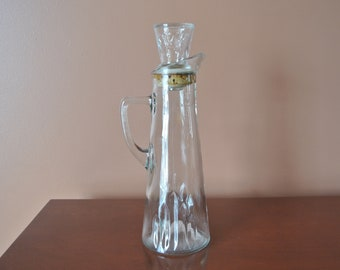 Decanter glass - Owen Illinois - Seagrams - Collection