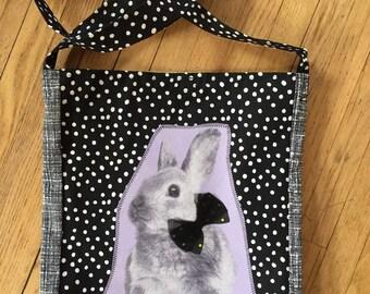 Bunny rabbit tshirt bag