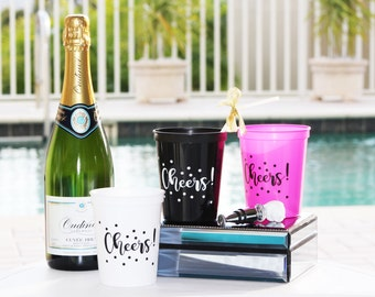 Cheers Plastic Party Tumblers (5 Pack)