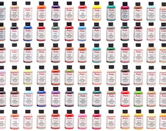 Angelus Leather Paint  4 oz Great for Bags Belts Boots Sneaker Paint Art Colors A-R