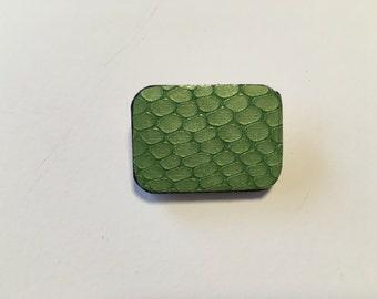 Original brooch - bright green