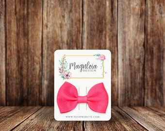 Custom Hair Bow Cards | Rounded Rectangle | Hair Clip Cards | SH015HA