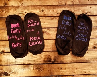 Funny Delivery Room Socks Ooooh Baby Baby.......Excellent Baby Shower Gift