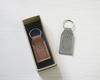 Custom Leather Keyring. Monogram Keyring. Mens Leather Key Fob. Gift for Men. Mens Leather Key Fob. Monogram Leather. Key Fob for Men.