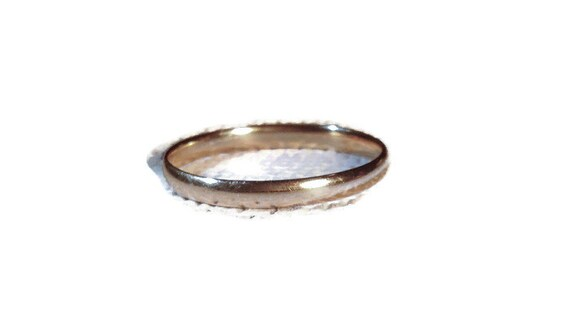 14 KT Yellow Gold 2 1/4 mm Wedding Band Size 12 for Him