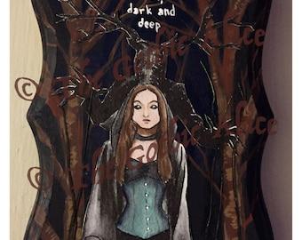 In the Forest Dark and Deep Original Artwork