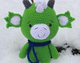 Jack the Dragon- Crocheted Amigurumi Dragon- Stuffed Animal Toy