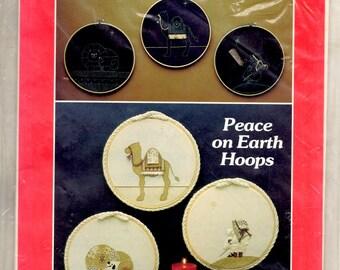 Peace on Earth Hoops Applique or Trapunto Camel Lion Shepherd Boy 10 Inch Hoop Frame Sewing Craft Pattern Leaflet
