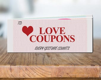 Love Coupons Booklet Printable Love Coupon Book PDF Valentine's Day / Anniversary Gift for Him for Her Last Minute Gift Birthday Gift