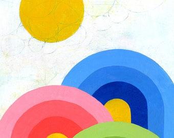 Rainbow Trifecta Print