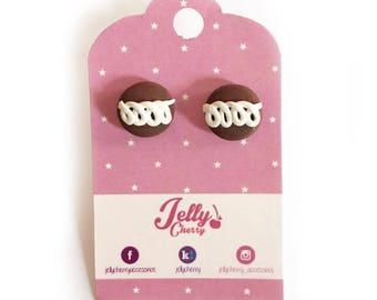 little debby cake earrings / kawaii earrings / cute jewelry / girls accesories / pingüinos marinela