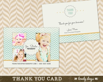 Thank you Card Template for Photographers INSTANT DOWNLOAD