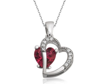 Love in my heart Silver Necklace - IJ1-1837