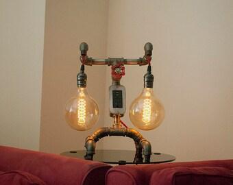 Vintage Desk Lamp with USB Charging Port