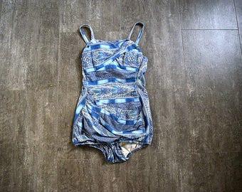 1950s swimsuit . vintage Rose Marie Reid bathing suit