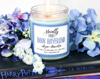 Book Boyfriend | 9oz jar | Book Candle, Bookish Soy Candle | Book Candle | Bookish Gift