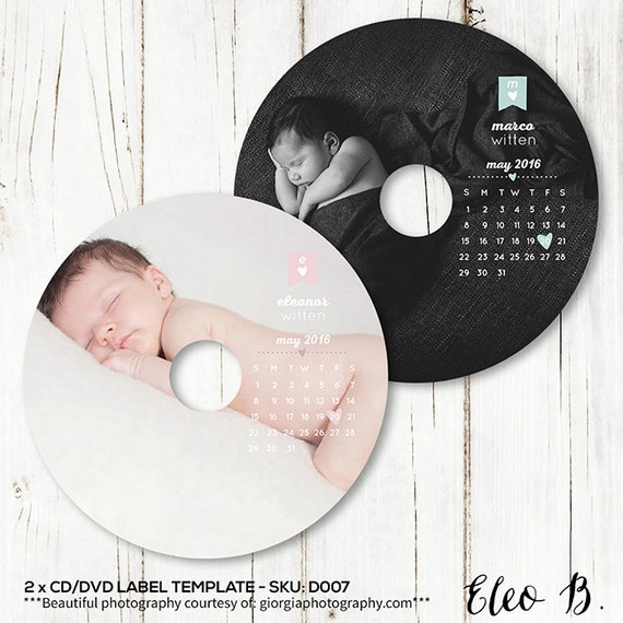 Newborn Dvd Label Template Baby Cd Label Template Studio