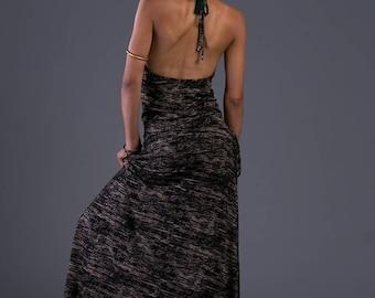 Bohemian open back dress , Maxi Dress women , Long Dress , Boho Dress , Bohemian Clothing , Boho Clothing