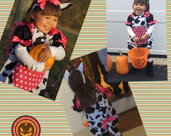 Cow Costume, Toddler Cow Costume, Infant Cow Costume, Halloween Cow Costume, Barnyard Animal Costume