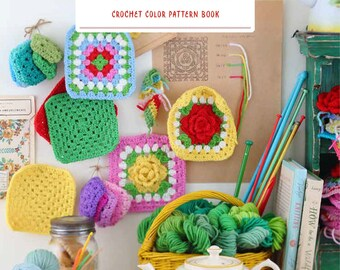 """Japanese Handicraft Book""""Crochet color scheme BOOK""""[4767822297]"""