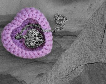 Trinket Box, Heart Basket, Heart shaped Basket, Trinket Basket, Jewelry Basket, Crochet Heart, Mrs Vs Crochet