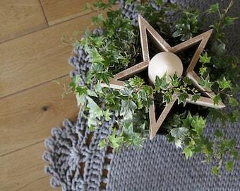 Handmade Wooden star