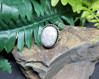 Fossil coral ring size 7