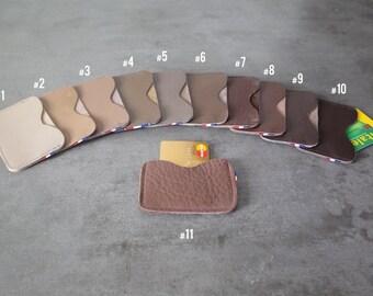 CARD cases - Simple - Beige/dark brown