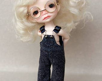 Blue overalls for Irrealdoll, Lati Yellow, Luts bjd doll pants