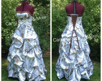CAMO Wedding Dress,  Camo Prom Dress