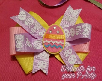 Easter Egg hair bow holiday girls  hair accessories