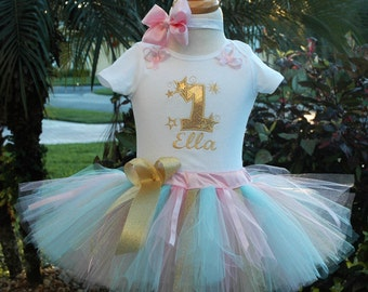 1st birthday girl outfit, twinkle twinkle little star 1st birthday outfit,one year old girl  birthday outfit,baby girl shabby chic,tutu set
