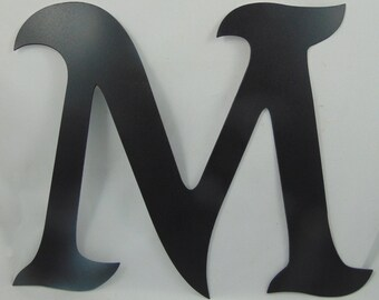 "12"" Custom Cut Metal Alphabet Letter, You Pick Which Letter (or Letters) You Want, Mikadan Font"