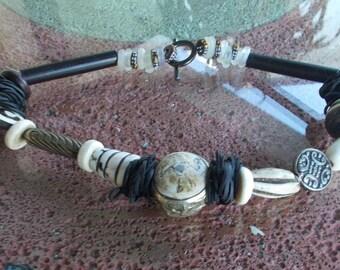 Bone & Silver Necklace3