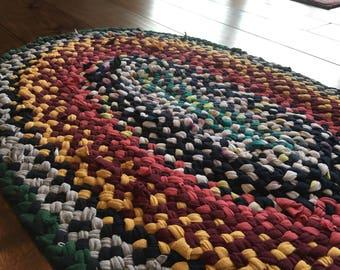 Upcycled Braided Rag Rug