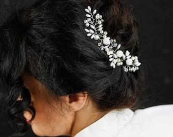 Bridal hair piece Wedding hair accessories Bridal headpiece Wedding headpiece flower  Bridal Hairpiece, Bridal Headpiece, Bridal Jewellery