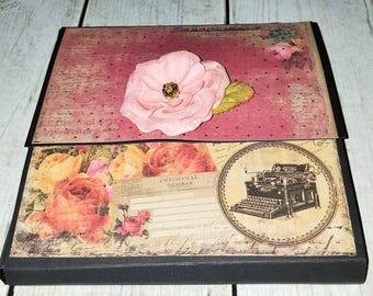 Vintage Large Wallet Style Folio