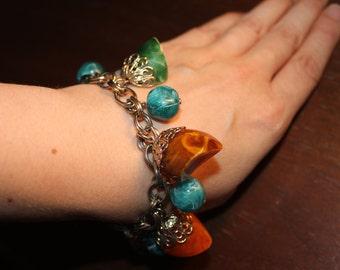 Vintage 1960's Cha Cha Style Lucite Beaded Bracelet
