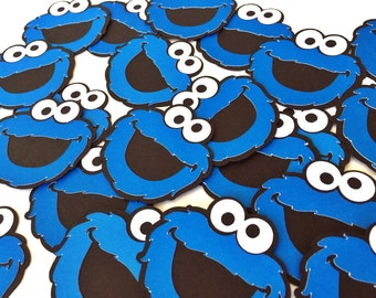 Cookie Monster - Cookie Monster Party - Sesame Street - Cookie Monster Decor - Sesame Street Birthday - Cookie Monster Tags
