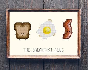The Breakfast Club Pun Cross Stitch Pattern