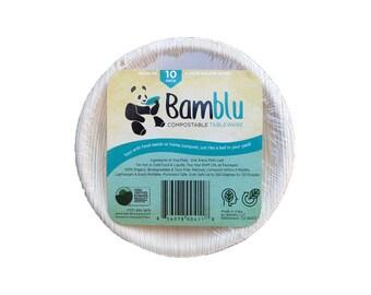 Bamblu 100 Count Home Compostable Designer Tableware, 5 inch Round Palm Leaf Bowl, LCB-05-CS