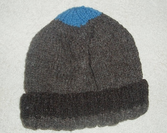 Hand knitted Child / toddler Woolly Hat. 100% ryeland wool