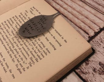 Hand Stmaped Spoon Book Marks