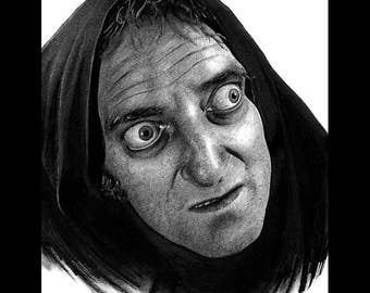 """Print 8x10"""" - Igor - Marty Feldman Young Frankenstein Gene Wilder Peter Boyle Monster Creature Classic Spooky Gothic Halloween Pop Art"""