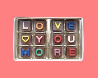 I Love You More Anniversary Gift for Women Romantic Idea Long Distance Boyfriend Gift Girlfriend Gift Man Cute Gift Box Fun Jelly Beans Cube