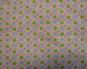 SALE: Pink, lime green, and blue Cotton print