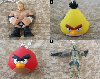 Video Game Characters - Necklaces and Keychains - Nintendo, Sega, Super Mario, Angry Birds etc!