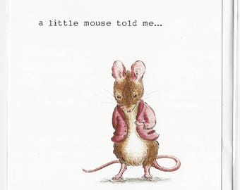 Mouse tales , greetings, celebration , birthday card