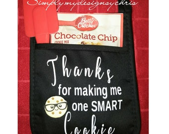 Thanks for making me one smart cookie, Brownie points and they see me Rollin - Potholder gift sets.
