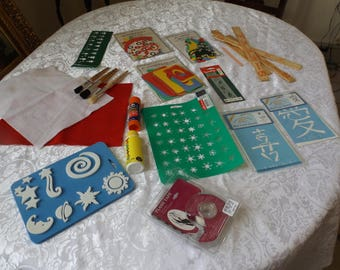 Lot items for crafts.Never used. New old stock. Some of them still in the original packs, some not. You will have what you see.